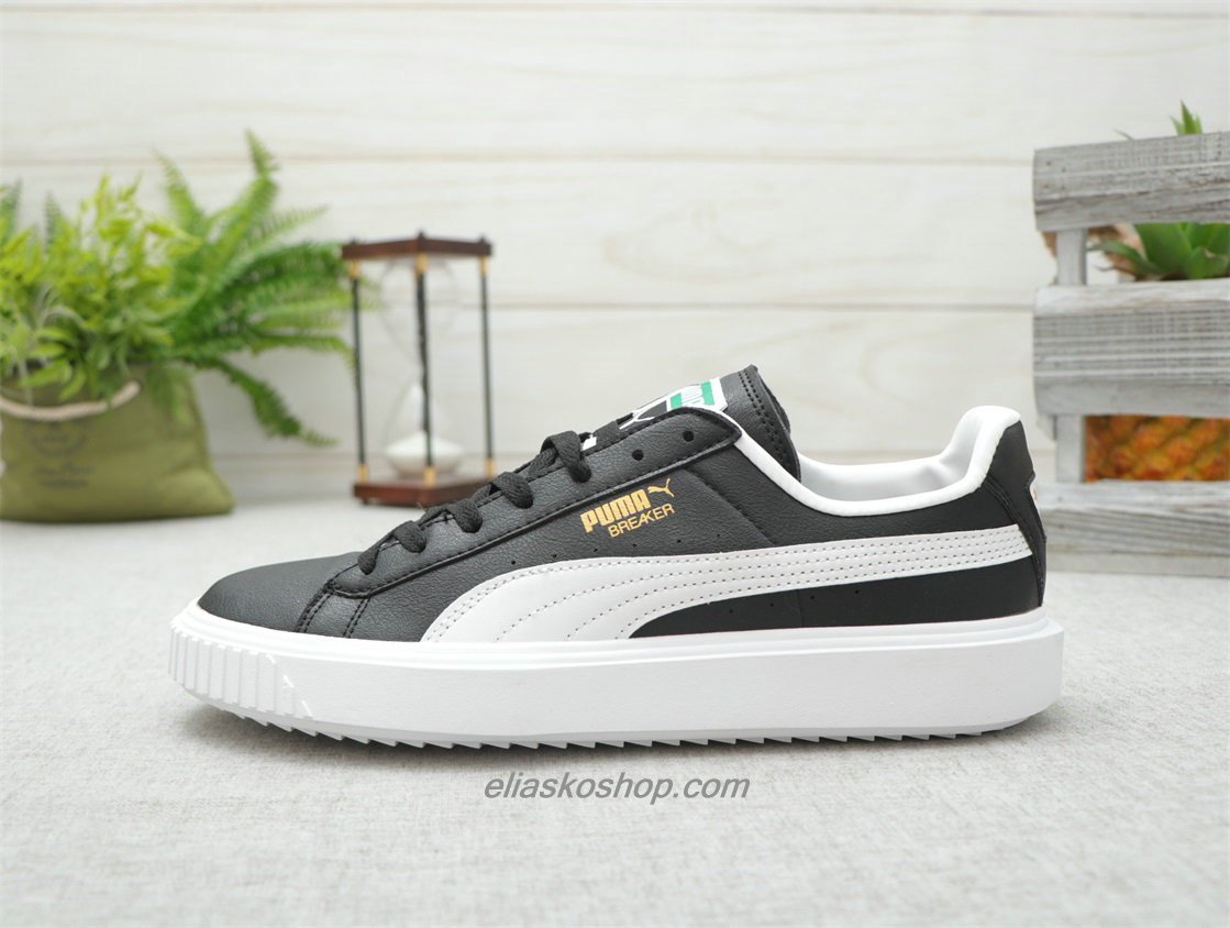 Puma Breaker Leather Svart/Hvit Lifestyle Sko